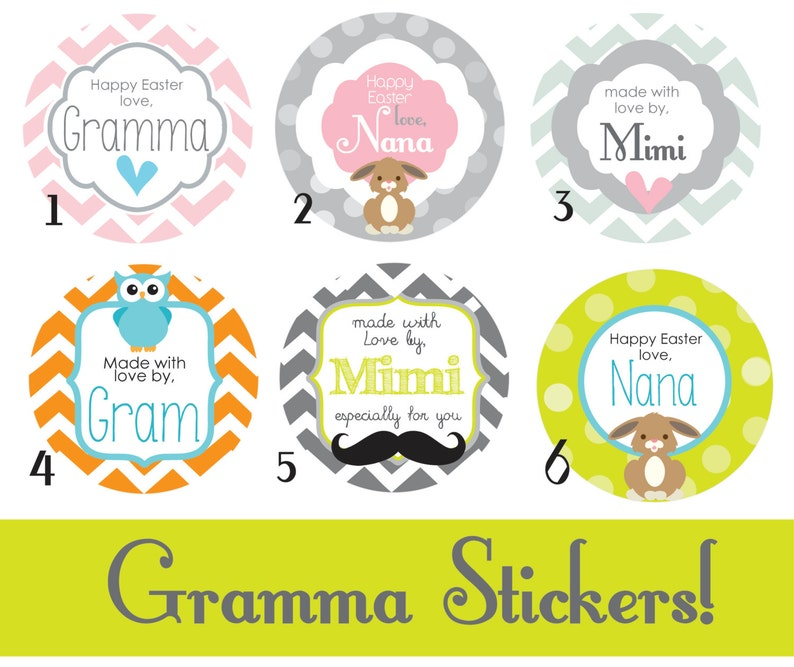 237ab81578ac Made with Love Personalized Stickers Gift Tag by Gramma Nana Mimi labels  Gift tag Custom Labels