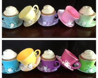 Cupcake Holder, Tea Cups, Party Favors