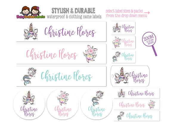 School Pack Cute Puppy Girl Personalized Waterproof Labels Shoe Labels Clothing Tag Labels Bag Tags Daycare Labels Name Labels