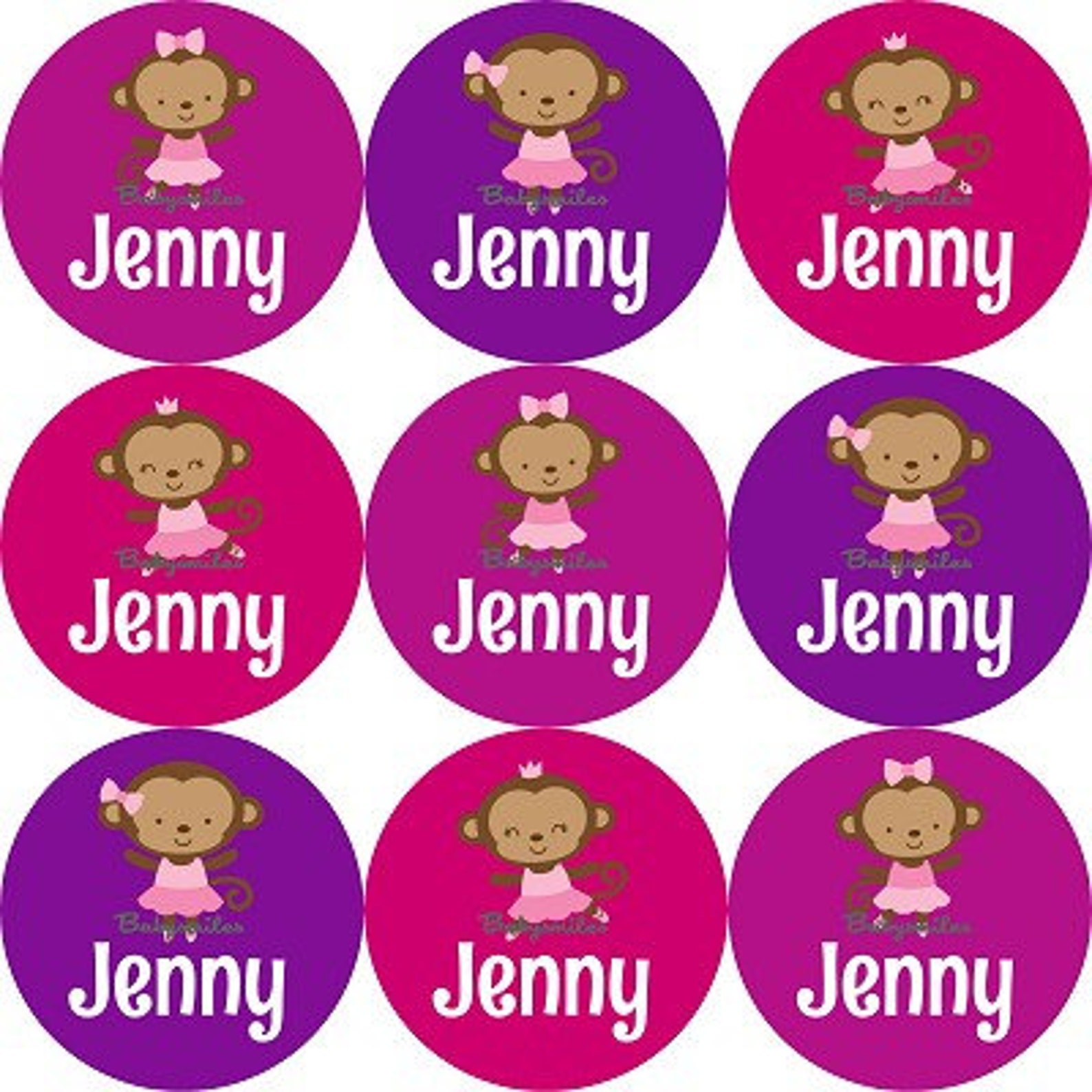 personalized waterproof shoe labels name label kids label daycare label school label baby labels shoe stickers - monkey ballet