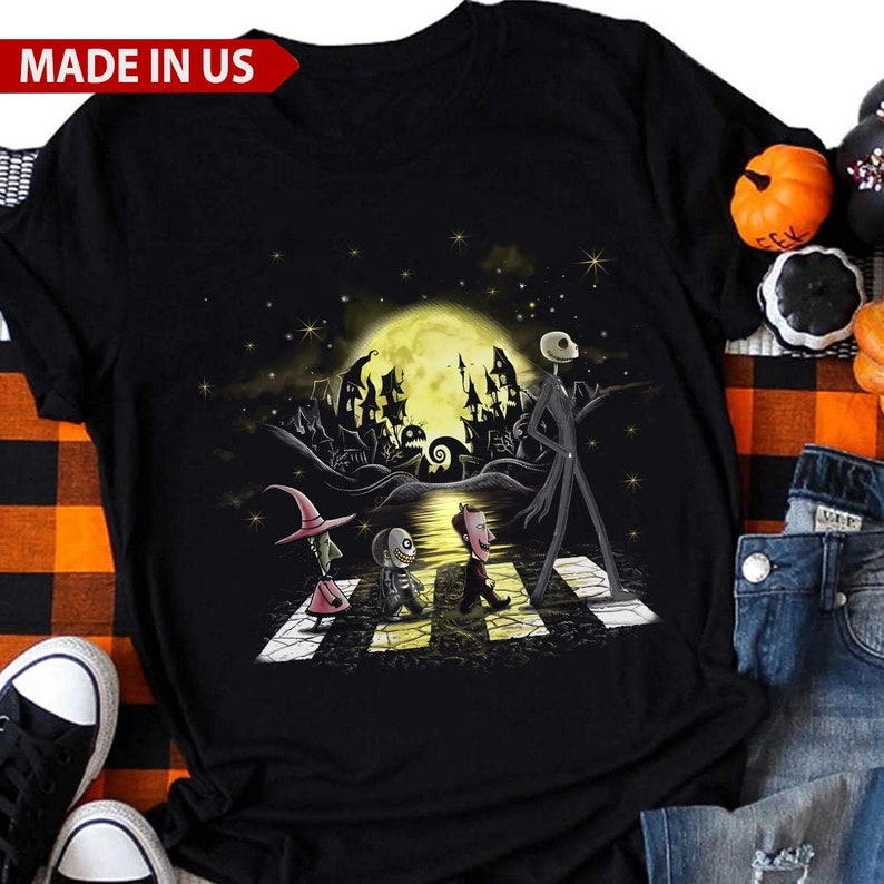 Halloween Road Nightmare Before Christmas Shirt