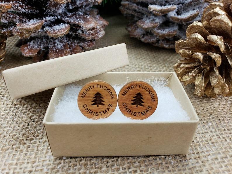 Funny Christmas Cufflinks Gift for Coworker Christmas Gift Rude Gift Gag Gifts for Christmas Merry Fucking Christmas Secret Santa Sarcastic