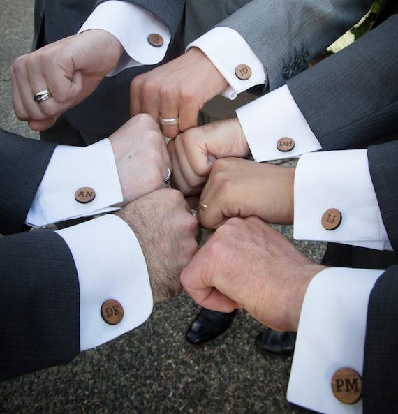 Gift For Groom Personalized Cufflinks Monogram Cufflinks Etsy