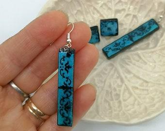 Matchstick Earrings Bar Portugal Tiles Stud Earrings Tile Post MINIMALIST, two earrings set for women and teenagers