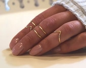 Midi Rings Boho Chic Jewelry Knuckle Ring Set Stacking Bohemian Gold Silver Rings Minimalistic Wire Wrap Ring Midi Ring Set