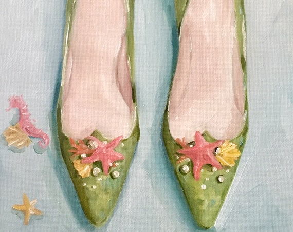 Seashell Slippers - Fine Art Print