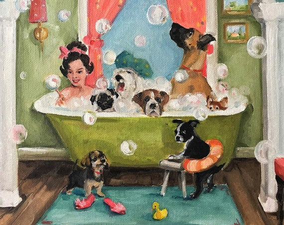 The Bubblebath - Large Fine Art Print