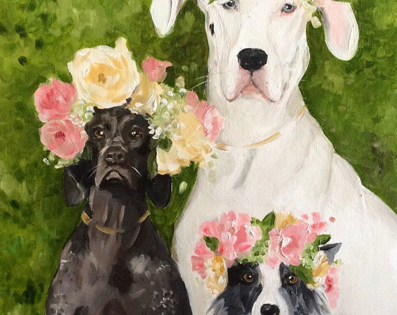 The Flower Girls - Large Fine Art Print