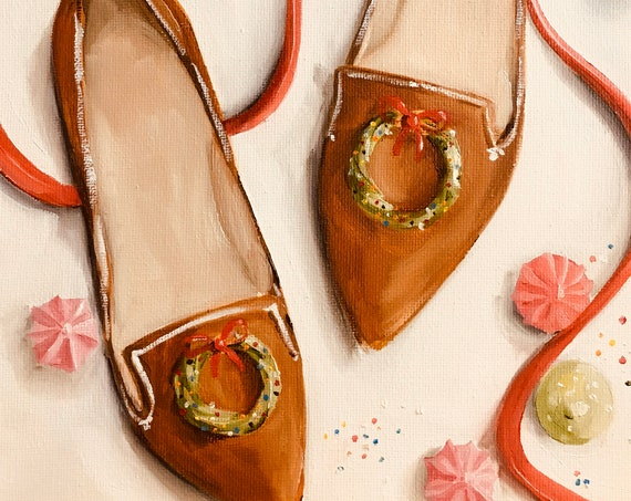 Gingerbread Shoes - Fine Art Print