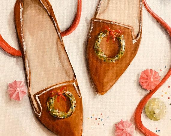 Gingerbread Shoes - Fine Art Print