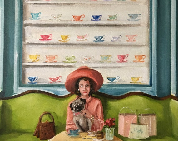 Tippy and Tilly Take Time For Tea - Fine Art Print