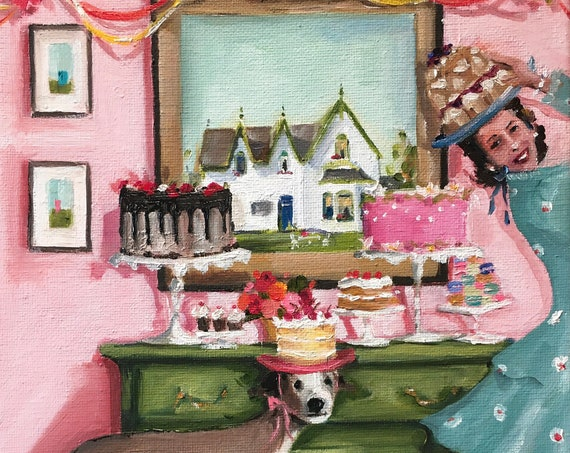 The Happy Baker - Fine Art Print