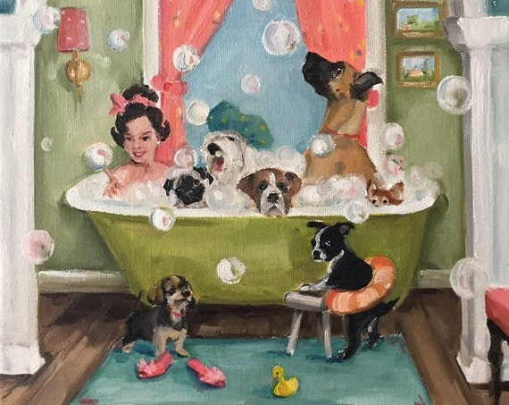 The Bubblebath -  Fine Art Print