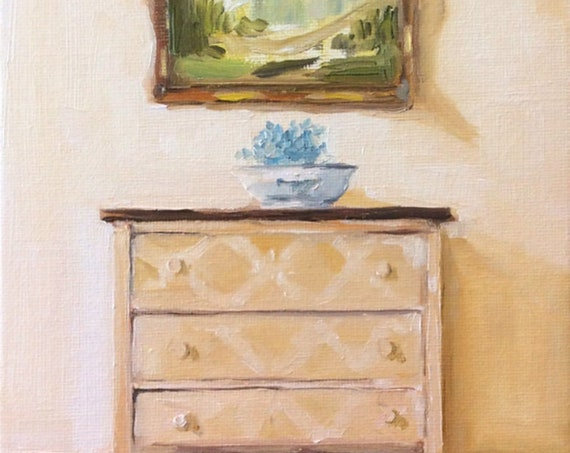 Butter Yellow Dresser - Fine Art Print