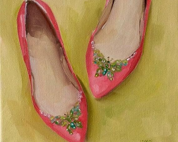 Pink with Butterflies - Fine Art Print