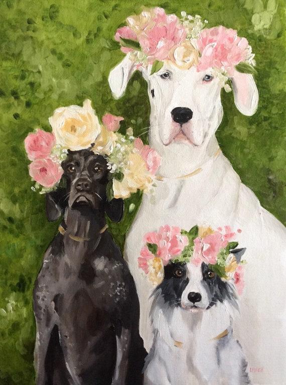 The Flower Girls - Fine Art Print