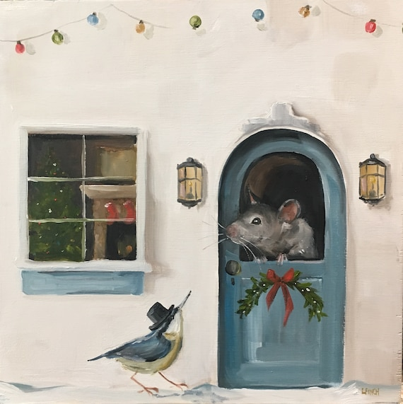 Merry Chrismouse - Fine Art Print