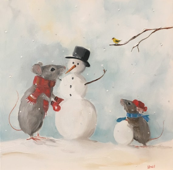 The Jolly Snowman - Fine Art Print