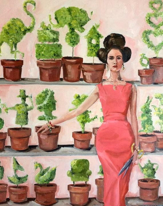 Topiary Girl - Fine Art Print