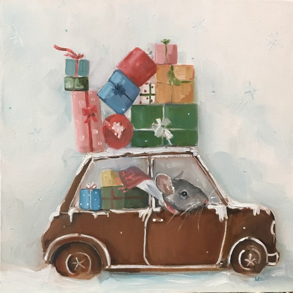 The Gingerbread Car - Print