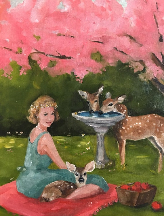 The Bird Bath -  Fine Art Print