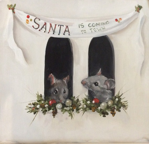 Santa Comes to Town - Fine Art Print