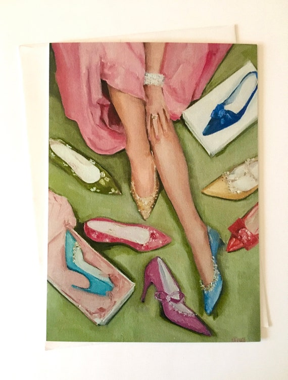 Notecard - Candy's Coloured Shoes