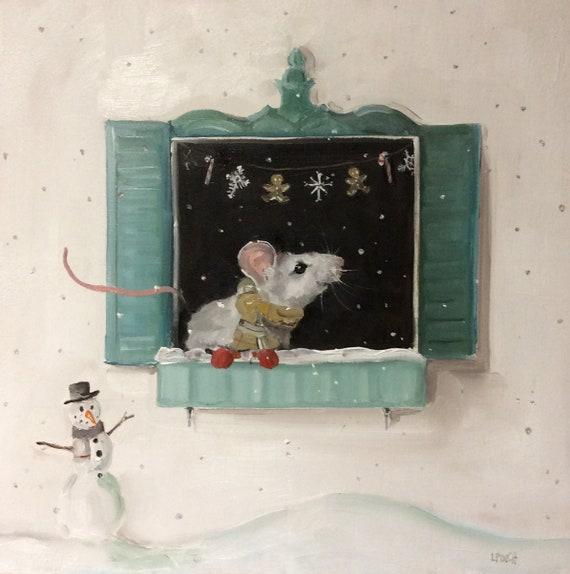 "The First Snowfall - 5"" x 7"" Fine Art Print"