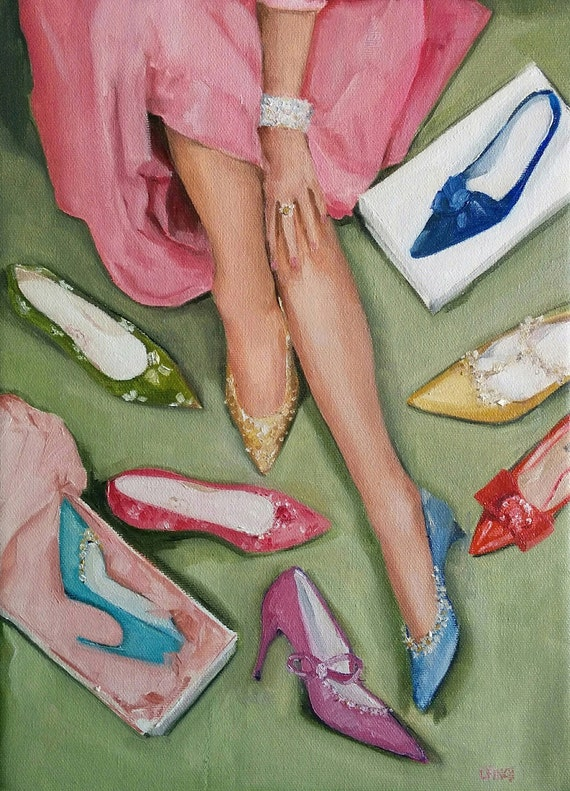 Candy's Coloured Shoes - Large Fine Art Print
