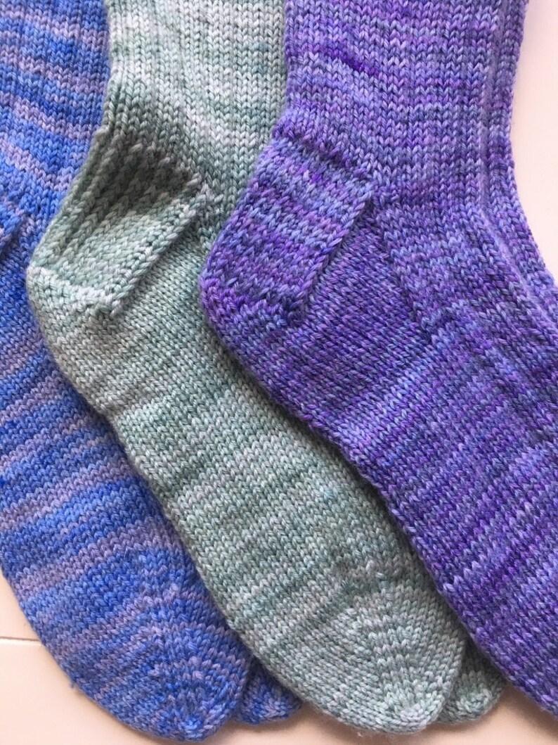 Size M Hand Knit Everyday Socks