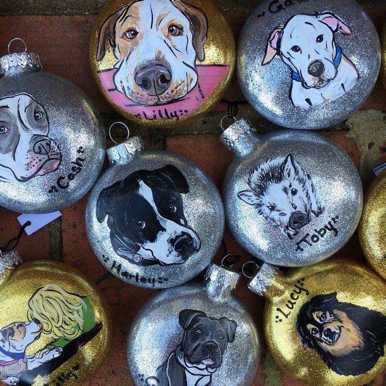 Custom Pet Portrait Ornament  Dog Portrait Ornament  Dog image 0