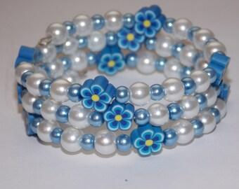 Girls Christmas Pearl Wrap Bracelet Etsy