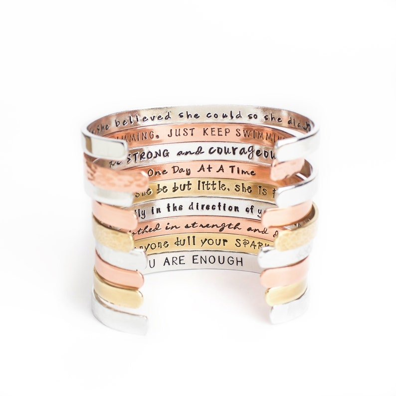 f24acc780d79 Inspirational Bracelet Confidence Cuffs™ Hand Stamped Secret