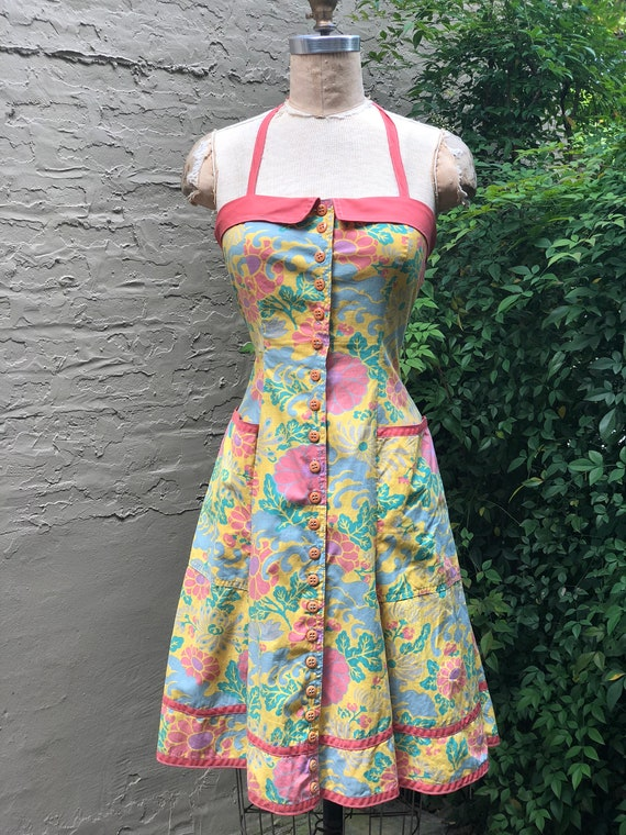 Alley Cat by Betsey Johnson 70s Sundress RARE cott