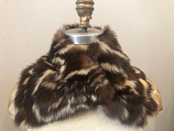 Real Vintage Skunk Fur Collar 30s 40s 50s