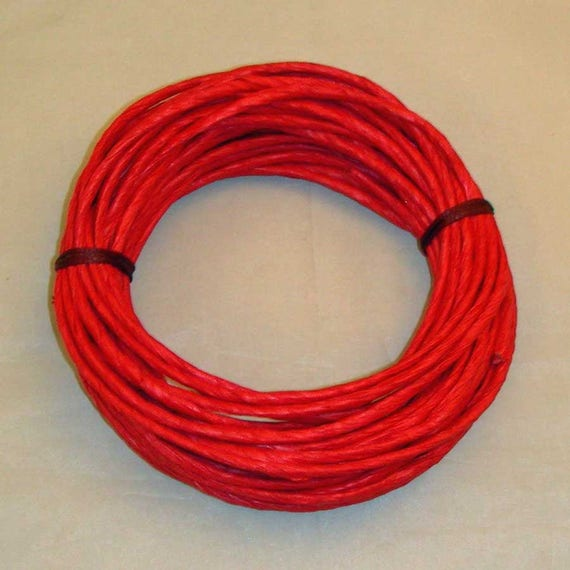 Paper Twist Twisted Paper Red Coiling Rim On A Gourd Etsy