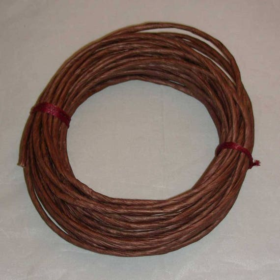 Paper Twist Twisted Paper Chocolate Brown Coiling Rim On A Etsy