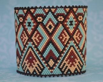 Peyote Bracelet, Peyote Cuff, Bracelet, Cuff, Seed Bead Bracelet, Beaded Bracelet, Handmade