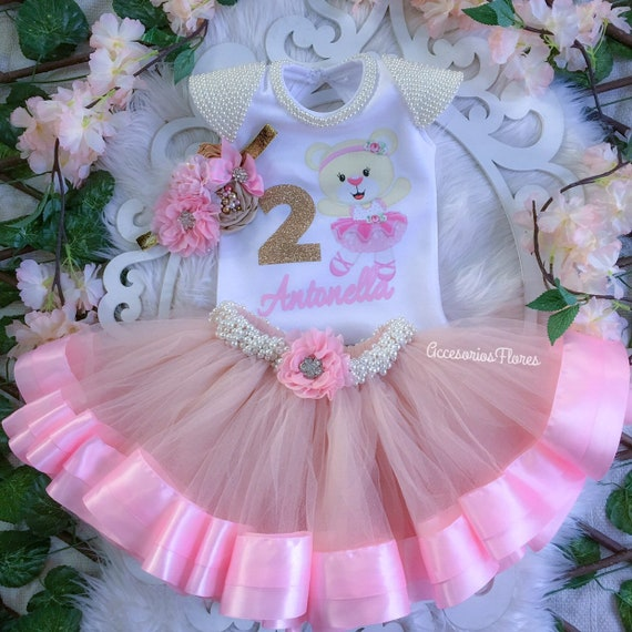 429e31582 ballerina tutu outfit / birthday outfit/ 1st birthday / tutu outfit/ girl  teddy bear / ballet tutu