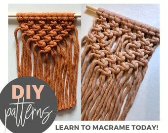 Beginners macrame 70s macrame pattern Easy macrame patterns PDF download 1310 Macrame wall hanging patterns PDF macrame pattern
