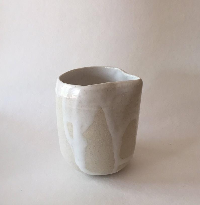 Fantastic White Handcrafted Ceramic Creamer Small Boho Tableware Modern Bohemian Home Kitchen Decor Handmade Ceramics Download Free Architecture Designs Intelgarnamadebymaigaardcom