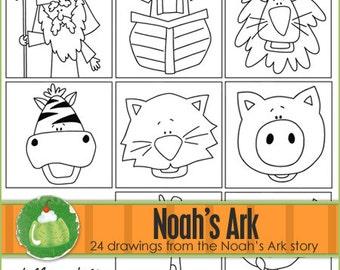 NOAH'S ARK I Can Draw Book