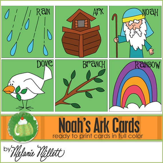 NOAH'S ARK Match Card Game - Downloadable PDF Only