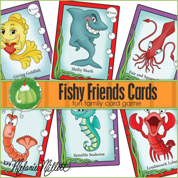 FISHY FRIENDS Match Card Game - Downloadable PDF Only