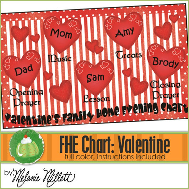 FAMILY HOME EVENING Chart  Valentine  Downloadable File image 0