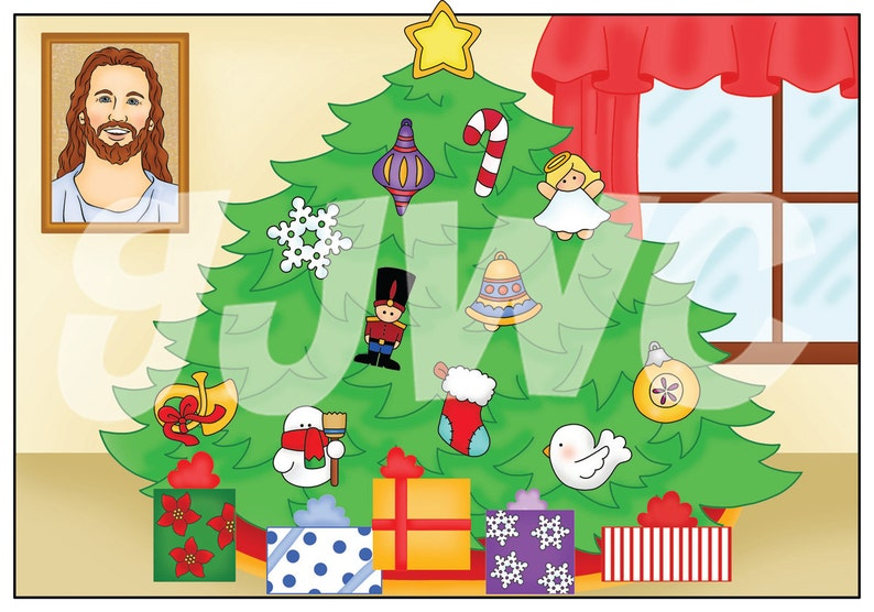 CHRISTMAS TREE Children's File Folder Game  Downloadable image 0