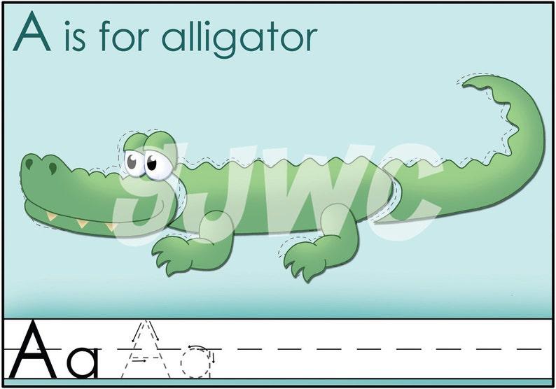 A is for ALLIGATOR Alphabet File Folder Game  Downloadable image 0