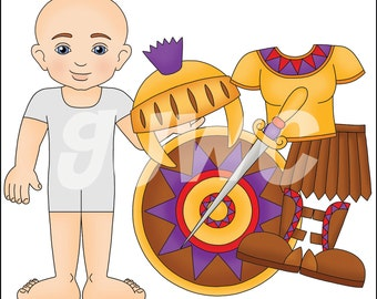 ARMOR of GOD Children's File Folder Game - Downloadable PDF Only