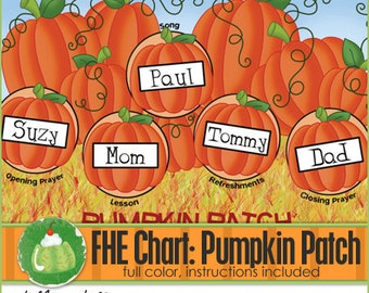 FAMILY HOME EVENING Chart - Pumpkin Patch - Downloadable File