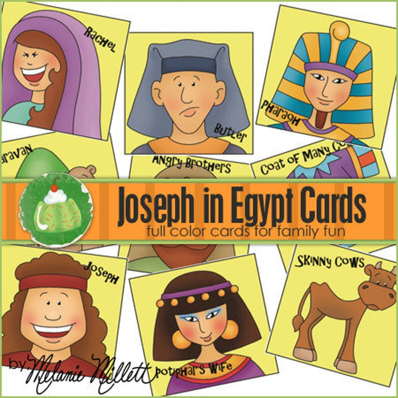 JOSEPH in EGYPT Match Card Game  Downloadable PDF Only image 0